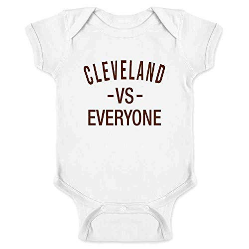 - Pop Threads Cleveland vs Everyone Ohio Sports Fan White 12M Infant Bodysuit