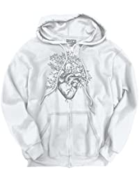 Sprouting Heart Shirt   Spirit Animal ZEN Garden Mystic Truth Zipper Hoodie