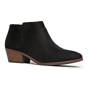 J. Adams Women's Black IMSU Low Heel Western Ankle Bootie - 5.5 B(M) US