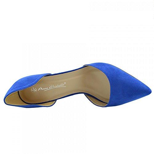Damen Stilletto High Heel Pointed-Toe-Partei-Schuhe Royal Blau