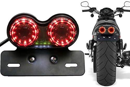 Iwilcs Rücklicht Motorrad Bremsleuchte Motorrad Rücklicht Kennzeichenleuchte Rücklicht Bremslicht Led Für Motorräder Suvs Atvs Elektrofahrzeuge Auto