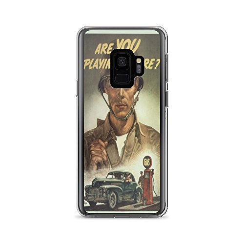 Vintage poster - Are you playing square? 0290 - Samsung Galaxy S9 Phone Case