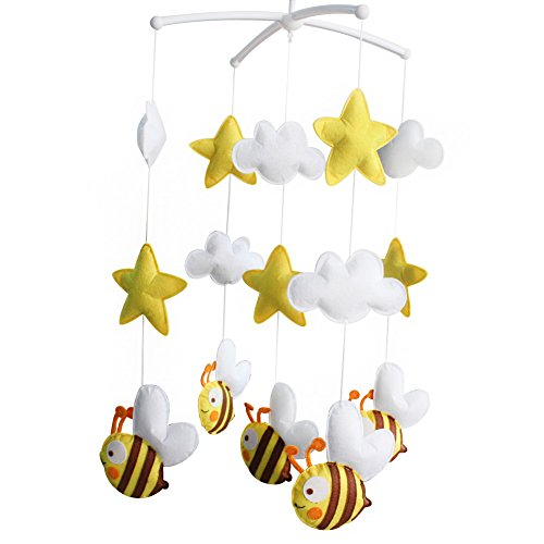 [Cute Bee] Exquisite Hanging Toys - Crib Decoration Musical Mobile ()