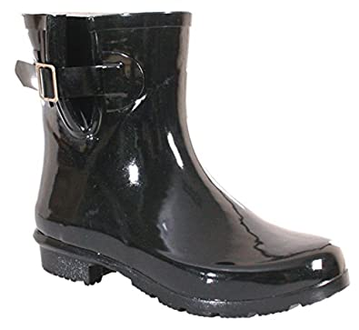 Women's Droplet Cushion Comfort Black Boot 10 M