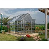 Palram Snap & Grow 6' Series Hobby Greenhouse Extension Kit - 6 x 4 x 7 Silver