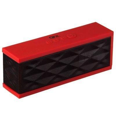 Qfx BT-37 Mini Media Player W Mic Red