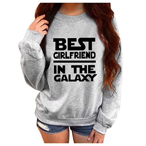 Aniywn Plus Size Pullover for Women,Ladies Casual Loose Sports Hooded Sweatshirt Tops Letters Print(Gray,L2) (Designing A Logo With The Logo Creator)
