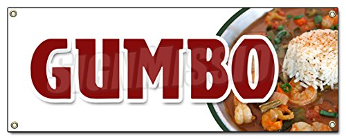 GUMBO BANNER SIGN louisiana creole andouille sausage homemade shrimp