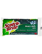 Scotch-Brite Scrub Sponge, Green,Pack of 3,(213)
