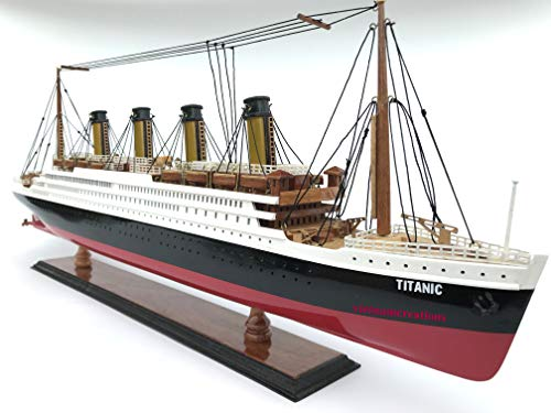 """vietnamcreations RMS Nautical Titanic 23"""" Wood Wooden Model Cruise Liner Ship Boat home decoration Display Vehicle Collection ( Not a Kit) from vietnamcreations"""