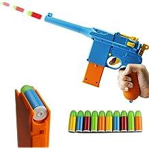 ZHENDUO Mauser Pistol Toy Gun with 10 Rubber Soft Bullets Mini Foam Dart Gun Blasters for Children Kids Cosplay Gifts