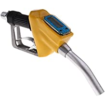 Homyl Car 1'' Thread Automatic Fueling Nozzle Gun with Digital Flow Meter - Yellow, 340x140x55mm