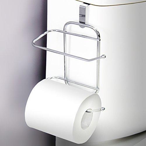 Tissue Hanging Toilet Holder - Vanderbilt Over-The-Tank Toilet Paper Tissue Hanging Metal 2-Roll Reserve Holder