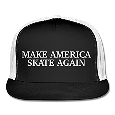 Make America Skate Again Funny Slogan Trucker Cap by Spreadshirt