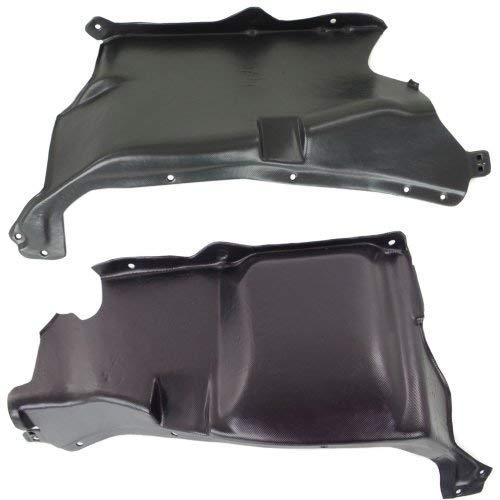 Hatchback Engine Splash Shield Compatible with Volkswagen New Beetle 1998-2005 Under Cover Right Side and Left Side 2.0L Eng