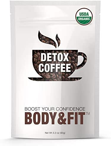[Upgraded] Detox Coffee with 100% Arabica – Powerful Natural Ingredients, Cleanse and Detox Body, Supports Weight Loss, Fast Results, Great Taste –FDA Certified and Organic