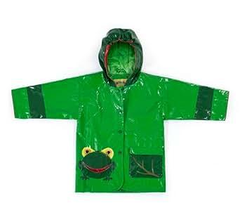Kidorable Boys' Little Frog All Weather Waterproof Coat, Green, 2 Toddler