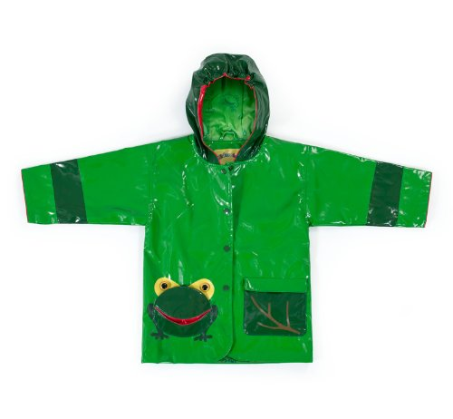 Kidorable Boys' Little Frog All Weather Waterproof Coat, Green, - Raincoat Frog