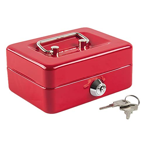 (Kyodoled Petty Cash Box with Money Tray,Lock Box with Key,Small Safe for Kids 4.9