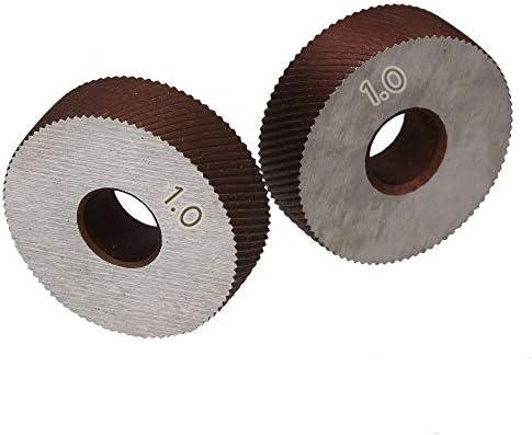 No Logo Rändelfräswerkzeuge Paar-Gruppierung 1.0mm Wälzfräser Rad Rändelrad Strukturierter Knurled Lathe Prägeradabschnitt Werkzeugmaschinen Zubehör Hebt für Metalldrehmaschine