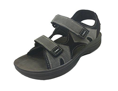 INBLU Casual Velcro Sandalo Fondo Grigio Uomo Gomma Chiusura RY24 qBUqxrE