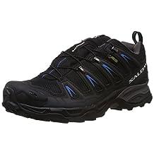 Salomon Men's X Ultra GTX Hiking Shoe,Black/Black/Bright Blue,11 M US
