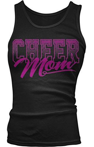 Cheer Mom Juniors Tank Top, Amdesco, Black Medium