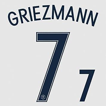Griezmann # 7 Francia euro 2016 away fútbol Jersey camiseta de fútbol nombre número de transferencia de impresión de tamaño de la juventud (Kids): ...