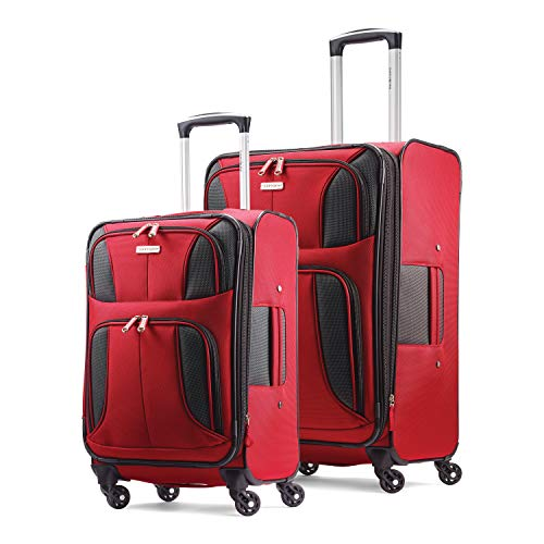 Samsonite Aspire Xlite Softside Expandable Luggage with Spinner Wheels, Red, 2-Piece Set (20/25)
