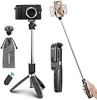 ELEGIANT Perche Selfie, Selfie Stick Bluetooth Trépied Bluetooth Bâton de Selfie Monopode Réglable Télescopique 4 en 1...