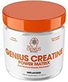 Genius Creatine Powder - Pro Post Workout Recovery Drink for Lean Muscle Gain | Creapure Monohydrate, HCL & Beta Alanine | Natural Anabolic Mass Gainer for Men & Women - Serious Muscle Builder, 171G