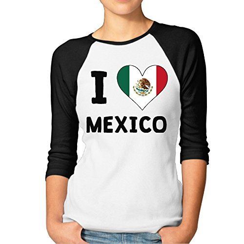 womens-i-love-and-heart-mexico-logo-raglan-sleeves-baseball-shirts