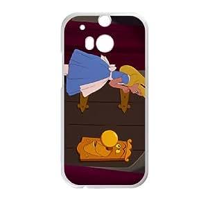 Disney Alice In Wonderland Character The Doorknob funda HTC One M8 caja funda del teléfono celular del teléfono celular blanco cubierta de la caja funda EEECBCAAB17264