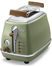 De'Longhi CTOV2103.GR Icona Vintage 2 Slice Toaster (Green)