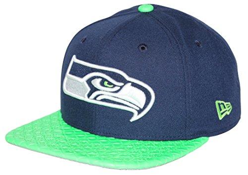 New Era Visor Link Seattle Seahawks Navy Green Snapback