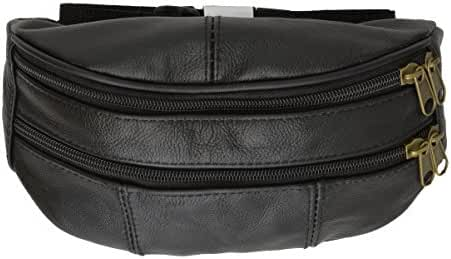Leather Zipper Change Purse Black #7310AM