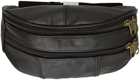 Leather Zipper Change Purse Black #7310AM