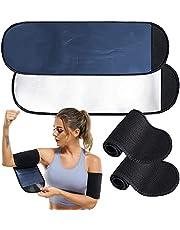 POTUANOT 2 paar Sauna Arm Zweetbanden, Arm Trimmers voor Vrouwen, Afslanken Compressie Mouw, Verstelbare Arm Trainer Mouwen voor Sport Workout