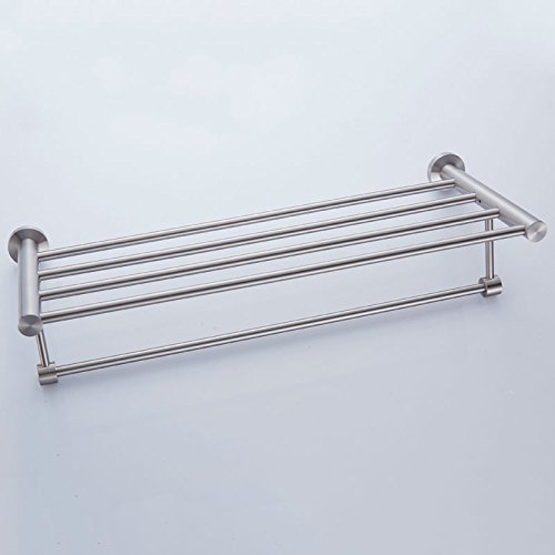 New Arrival Luxury Bathroom Accessories Stainless Steel Bath Towel Shelves Towel Rack Towel Bar Bath Hardware by Shelves store (Image #4)