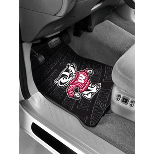 The Northwest Company Officially Licensed NCAA Wisconsin Badgers Auto Front Floor Mat, 2-Pack