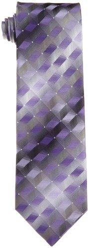 Van Heusen Men's 3d Geo Necktie, Purple, One Size ()