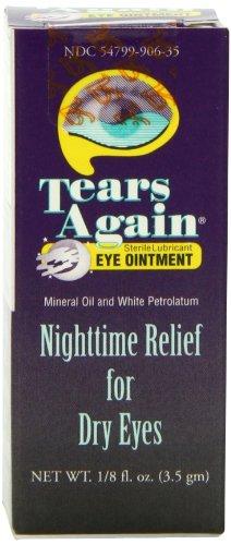 Nouveau de larmes pommade ophtalmique, stérile lubrifiants, de nuit secours pour les yeux secs, 0,125 once (3,5 g)