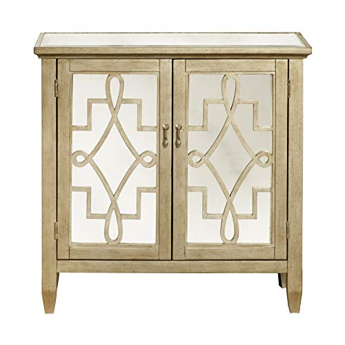 Pulaski DS-P017067 Gold Accent Cabinet, - Gold Screw Accents