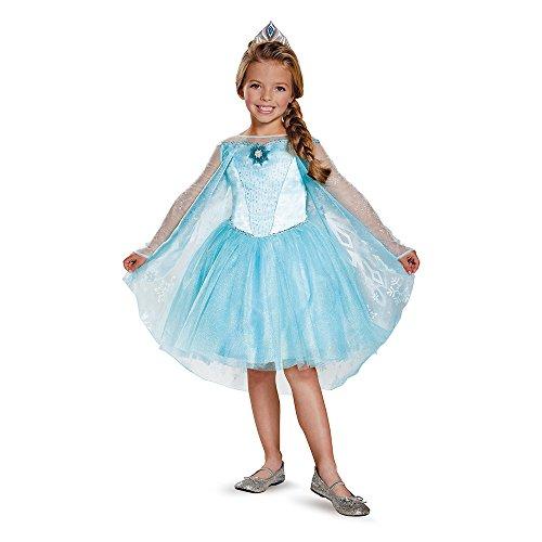 [Disguise Elsa Tutu Prestige Costume, Small (4-6x)] (Frozen Elsa Coronation Dress Costume)