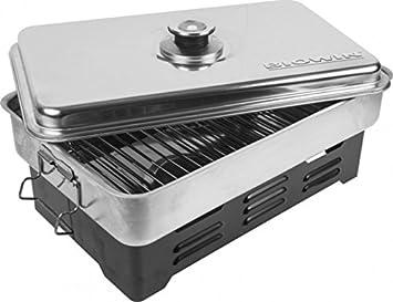 Horno de sobremesa de acero inoxidable con termómetro, horno de barbacoa, nuevo horno 330001: Amazon.es: Jardín
