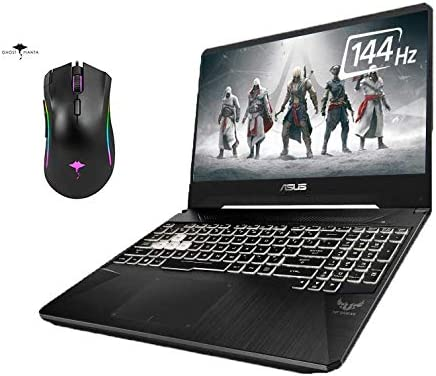 "2021 Newest Asus TUF Gaming Laptop 15.6"" 144Hz IPS Full HD, 6 cores Intel i7-9750H, 16GB RAM, 512GB SSD, GeForce GTX 1650, RGB Backlit Keyboard, WiFi5, Win10 +GM Gaming Mouse"