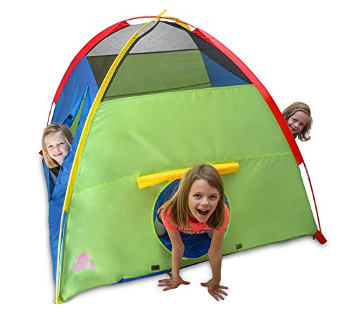 Kiddey Kids Play Tent & Playhouse - Indoor/Outdoor Playhouse for Boys and Girls - Promotes Early Learning, Social Bonding, Imagination Building and Roleplay - Easy Setup
