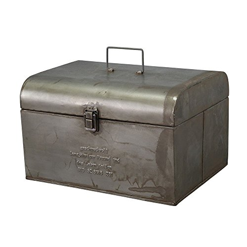 Time Concept Geshmack Metal Iron Antique Style Storage - Large Tool Box - European Retro Inspired, Tinplate Home Décor