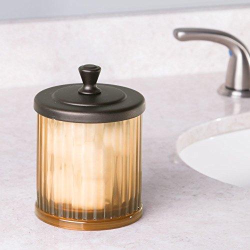 interdesign alston bath collection bathroom vanity canister jar for cotton ebay