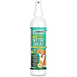 Vet Recommended NEW Bitter Lemon Spray For Dogs - OMG Nasty! - Anti Chew Dog Repellent Spray & Dog Training Tool to Stop Biting - Alcohol Free, Non-Toxic and Safe Chewing Deterrent. (8oz/240ml)